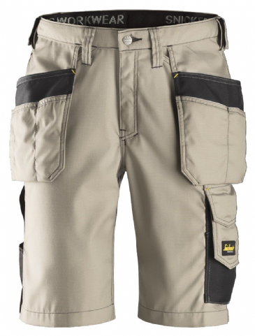 Snickers 3023 Ripstop Holster Pocket Shorts (Khaki / Black)